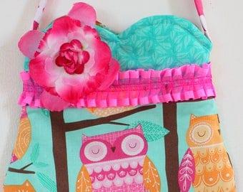 Forest Owl purse, girls purse, toddler purse,