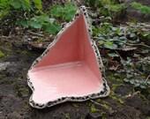Terrarium Corner Protector a.k.a. Lizard Loo gecko bathroom -- Bright Pink