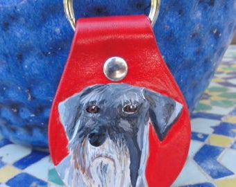 Key Fob with Schnauzer