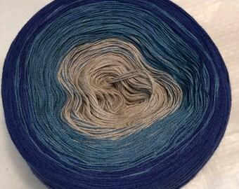 gradient tied cotton 100g light fingering Blue Stone v.2