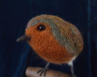 Needle felted bird...English Robin