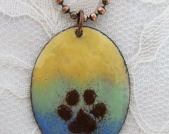 Best Friend Paw Print Necklace