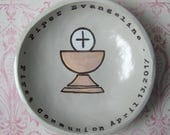 First Communion, Confirmation Gift, Religious Gift, For Boy or Girl, Personalized Gift, Personalized Bowl