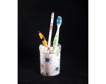 Atomic 1950s toothbrush holder retro mid century pen caddy vintage rockabilly bathroom kitsch