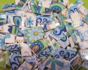 "Mosaic Tiles 125 Paisley 1/2 - 1"" Mosaic Tiles"