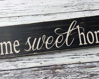 home sweet home | sign | wood sign | home decor| welcome | Style - HM46