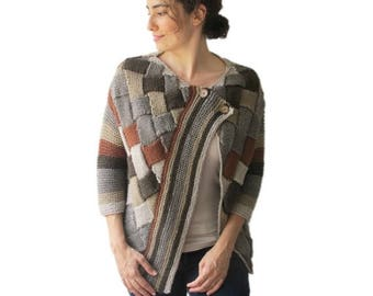 50% CLEARENCE Colorful Cardigan Brown Beige Latte by Afra