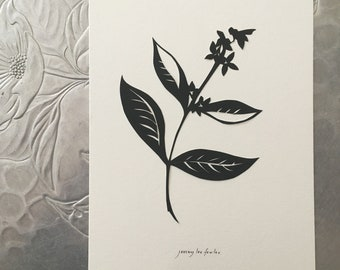 Jasmine Silhouette Papercutting