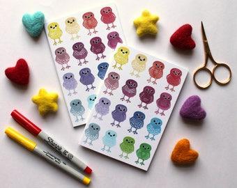 A6 Notebook, Rainbow Doodle Bird Notebook, Plain Notebook, Lined Notebook, Pocket Notebook