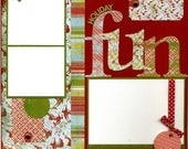 Holiday Fun - Premade Christmas Scrapbook Page