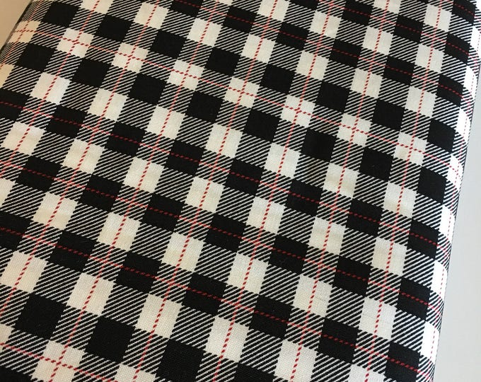 Christmas Fabric by the Yard, FabricShoppe, Comfort and Joy by Riley Blake, Plaid fabric, Christmas Quilt fabric, Plaid in Black