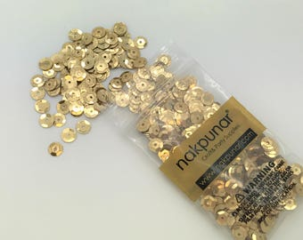 3D Gold Round Sequin For Clothing, Accessory, DIY, Craft Scrap-booking, Wedding, Art Decoration, Jewelry Making