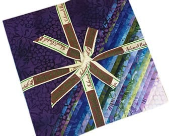 "Island Batik LOTUS BLOOMS Batiks Precut 10"" Fabric Squares Quilting Cotton Island Stacks"