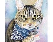 Custom Pet Cat Portrait For Brenda, Painting, Gift, Birthday, Gift Idea, For Him, For Her,  Mother, Wife, Girlfriend, Husband, Mom