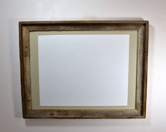 18x24 rustic wood frame with mat for 11x17,12x18 or 13x19 make a statement with this big  frame