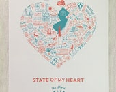 State of My Heart New Jersey Shore Digital Art Print