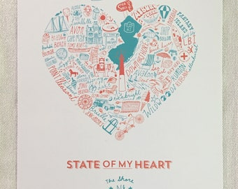 State of My Heart New Jersey Shore Digital Art Print