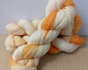 Hues: Dandy Yellow Sock Yarn Super wash Merino/Nylon Sock Yarn Hand Dyed Sock Yarn Semi Solid Yellow Gold Sock Yarn