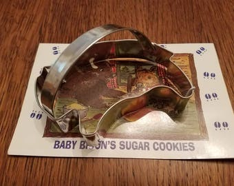 Bison Cookie Cutter with recipe for baby bison sugar cookies. Buffalo