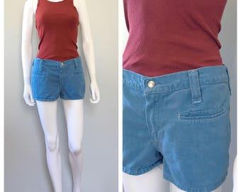 Vintage 1960s soft cotton Wrangler hot pants Short shorts hip hugger shorts