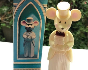 Vintage New in Box Avon Church Mouse Groom Delicate Daisies Cologne Bottle