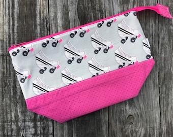 Project Bag Knitting Crochet Supply Bag Roller Skates Ready To Ship