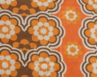 Seventies vintage fabric - 120x60 cm.