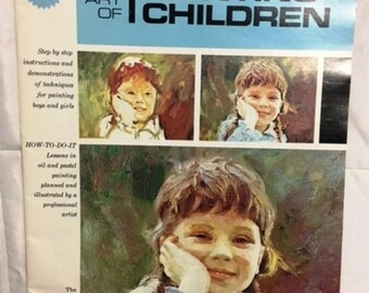 The Art of Painting Children  by Don Stivers c1978 softcover full color instructional booklet