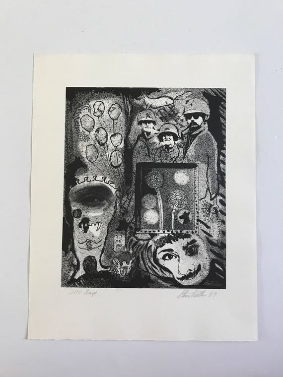 1969 Abstract Print by Steven T Cullen
