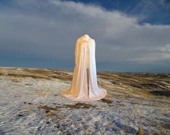 Cloak Cape Dark Champagne Ivory Velvet Hooded Medieval Wedding Renaissance Costume