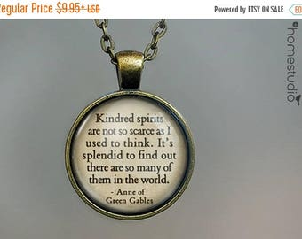 ON SALE - Green Gables (Kindred) Quote jewelry. Necklace, Pendant or Keychain Key Ring. Perfect Gift Present. Glass dome metal charm by Home