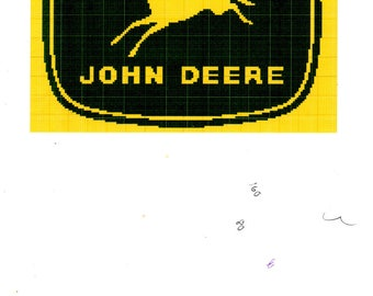 Nothing Runs Like a Deere John Deere Emblem Afghan Made to Order Birthday Housewarming Fathers Day Christmas Graduation