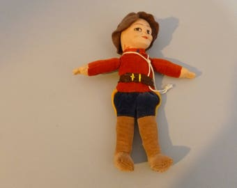 Vintage Norah Wellings Royal Candian Mounted Police Doll Made in England