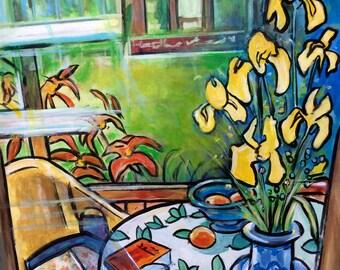 Floral Art - Garden Art - Art Print -Looking in the Window - Toronto, Canada - Wall Art