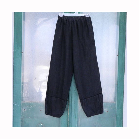 Jane Mohr for DTK Long Linen Pant -L/XL- Black