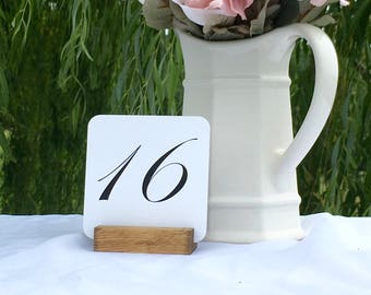 Table Number Holder + Rustic Wedding Wood Table Number Holders