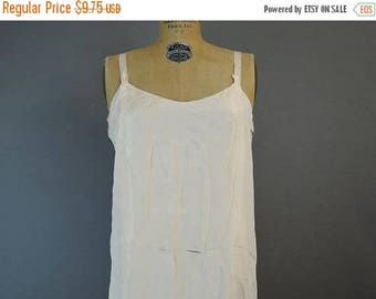 20% Sale - 1920s AS IS Ivory Silk Full Slip, Vintage Dress Slip, Cutter Costume