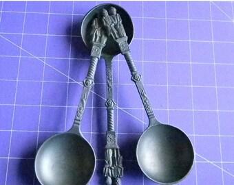 Close Out Sale Vintage Pewter Rein Zinn  Spoons (3)