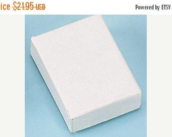 STOREWIDE SALE 100 Pack of 2.5X1.5X1 Inch Size White Cotton Filled Jewelry Gift Merchandise Boxes
