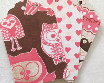 I Heart Owls - Set of 12 Tags, Gift Tags, Project Life, Snail Mail, Planners