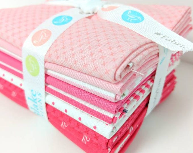 Featured listing image: Pink and Raspberry FQ Bundle - 8 Fat Quarters