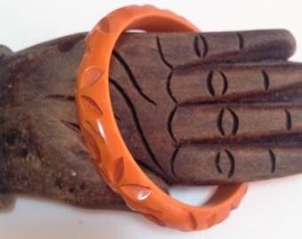 Deeply Carved Bakelite Bracelet