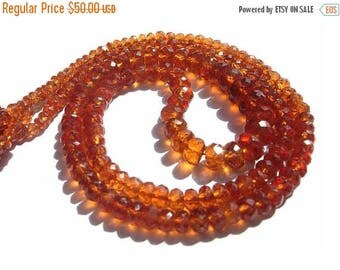 Sale 45% off 1/2 Strand 8 Inches AAA Genuine Hessonite Garnet Micro Faceted Rondelles Size 2.5 - 6mm approx