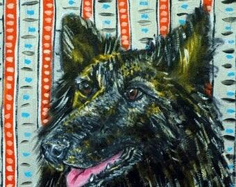 20% off storewide BELGIAN shepherd dog art PRINT poster gift modern folk JSCHMETZ 11x14