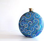 For Donna Round  Flask: Hand Painted 10 fl oz Stainless Steel