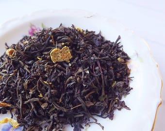 Orange Blossom, Black Tea, Loose Leaf Tea, Citrus Tea, Honey Tea, Orange Tea, Wedding Favor, Shower Favor, Tea Party Favor, Iced Tea