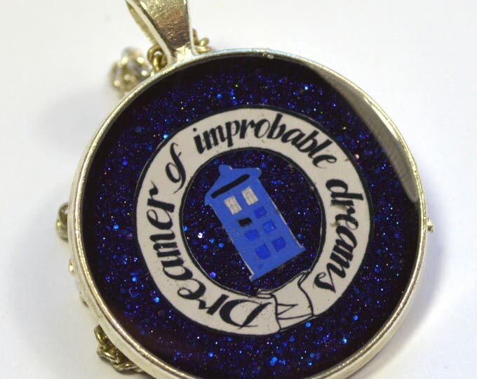"Doctor Who Dr.Who Scifi ""Dreamer of Improbable Dreams"" Resin Pendant"