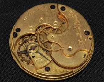 Gorgeous Vintage Antique Elgin Watch Pocket Watch Movement Steampunk Altered Art Assemblage Industrial SM 40