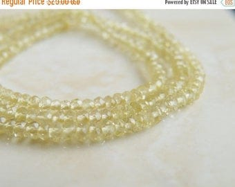 Deep Discount Sale Exceptional Lemon Quartz Gemstone Faceted Rondelle 2.5mm 220 beads Full strand