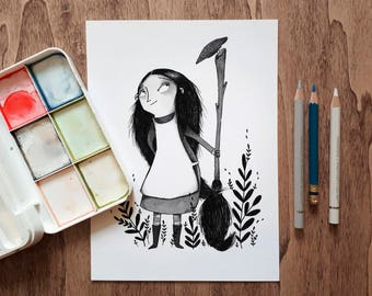Little Witch A5 Print